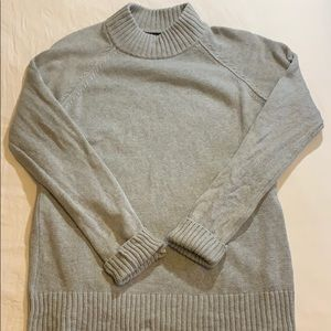 super stylish grey turtleneck